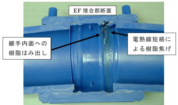 EF接合部の漏水